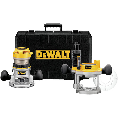 Dewalt DW618PK 2-1/4 HP EVS Fixed Base & Plunge Router Combo Kit with Hard Case image number 0