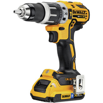 Factory Reconditioned Dewalt DCD796D2BTR 20V MAX XR Lithium-Ion Brushless Compact 2-Speed 1/2 in. Cordless Hammer Drill Kit with (2) 2 Ah Bluetooth Batteries image number 2