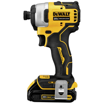 Dewalt DCF809C2 ATOMIC 20V MAX 1/4 in. Brushless Compact Impact Driver Kit with (2) Li-Ion Batt image number 2