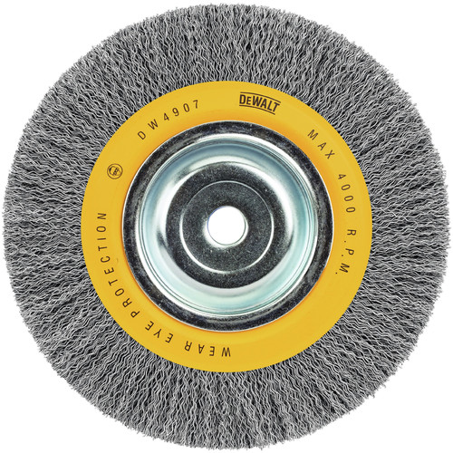 Dewalt DW4907 8 in. x 0.014 in. Carbon Steel Wide Face Bench Grinder Brush
