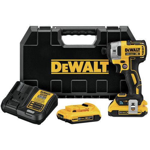 Dewalt DCF888D2 20V MAX XR 2.0 Ah Cordless Lithium-Ion Brushless Tool Connect 1/4 in. Impact Driver Kit image number 0