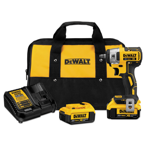 Dewalt DCF890M2 20V MAX XR Cordless Lithium-Ion 3/8 in. Compact Impact Wrench Kit image number 0