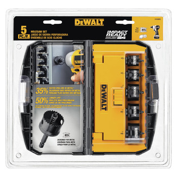Dewalt D1800IR5 5-Piece Impact Ready Hole Saw Set image number 0