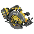Dewalt DCS578X2 FLEXVOLT 60V MAX Brushless Lithium-Ion 7-1/4 in. Cordless Circular Saw Kit with Brake and (2) 9 Ah Batteries image number 1