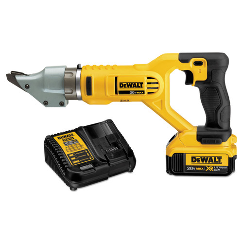 Dewalt DCS494M2 20V MAX XR Cordless Lithium-Ion 14-Gauge Swivel Head Shear Kit