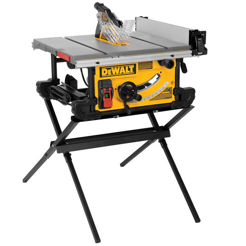 Factory Reconditioned Dewalt DWE7490XR 10 In. 15 Amp Site Pro Compact  Jobsite Table Saw With Scissor Stand