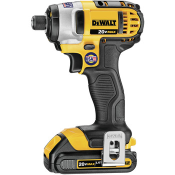 Factory Reconditioned Dewalt DCF885C2R 20V MAX Cordless Lithium-Ion 1/4 in. Impact Driver Kit image number 1
