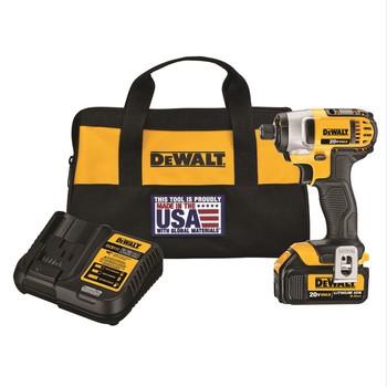 Factory Reconditioned Dewalt DCF885L1R 20V MAX 20V MAX Lithium-Ion 1/4 in. Hex Impact Driver Kit image number 0