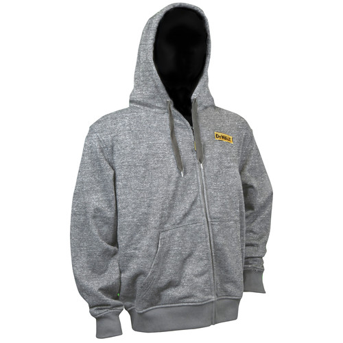 Dewalt DCHJ080B-XL 20V MAX Li-Ion Heathered Gray Heated Hoodie (Jacket Only) - XL image number 0