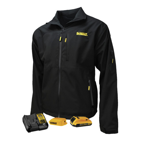 Dewalt DCHJ090BD1-S Structured Soft Shell Heated Jacket Kit - Small, Black image number 0