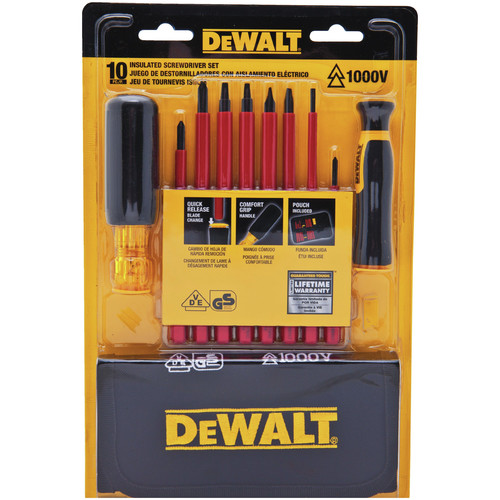 Dewalt DWHT66417 8 Piece Vinyl Grip Insulated Screwdriver Set image number 0