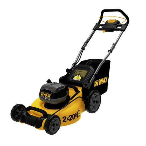 Dewalt DCMW220X2 20V MAX Brushless Lithium-Ion Walk Behind 3-in-1 20 in. Cordless Push Lawn Mower (9 Ah) image number 0