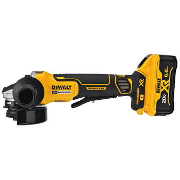 Dewalt DCG413R2 20V MAX XR Brushless 4.5 in. Paddle Switch Small Angle Grinder Kit with Kickback Brake image number 1