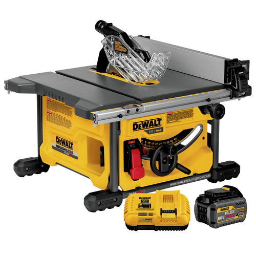 Dewalt DCS7485T1 60V MAX FlexVolt Cordless Lithium-Ion 8-1/4 in. Table Saw Kit with Battery image number 0