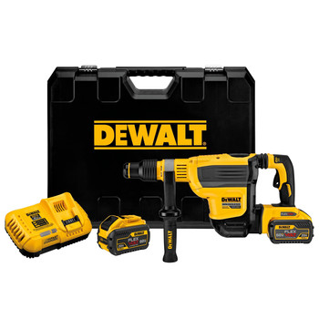 Dewalt DCH614X2 60V MAX Brushless Lithium-Ion SDS Max 1-3/4 in. Combination Rotary Hammer Kit (9 Ah)