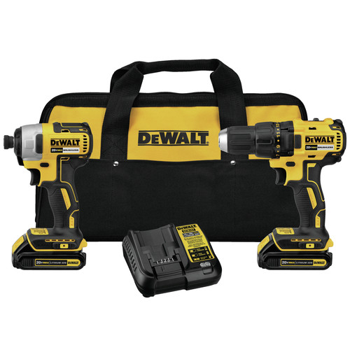 Factory Reconditioned Dewalt DCK277C2R 20V MAX 1.5 Ah Cordless Lithium-Ion Compact Brushless Drill and Impact Driver Combo Kit image number 0