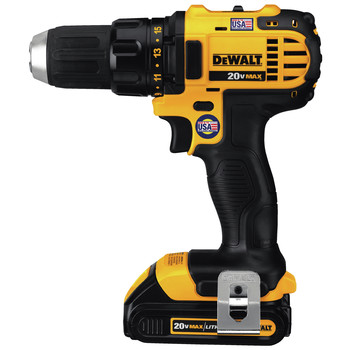 Factory Reconditioned Dewalt DCD780C2R 20V MAX Lithium-Ion Compact 1/2 in. Cordless Drill Driver Kit (1.5 Ah) image number 1