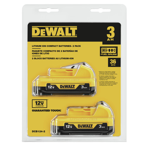Dewalt DCB124-2 12V MAX 3 Ah Lithium-Ion Battery (2-Pack) image number 0