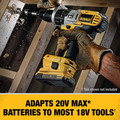 Dewalt DCA2203C 20V MAX Lithium-Ion Battery, Charger and Adapter Kit for 18V Cordless Tools (2 Ah) image number 2
