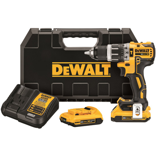 Dewalt DCD796D2 20V MAX XR Lithium-Ion Brushless Compact 3-Speed 1/2 in. Cordless Hammer Drill Kit (2 Ah) image number 0