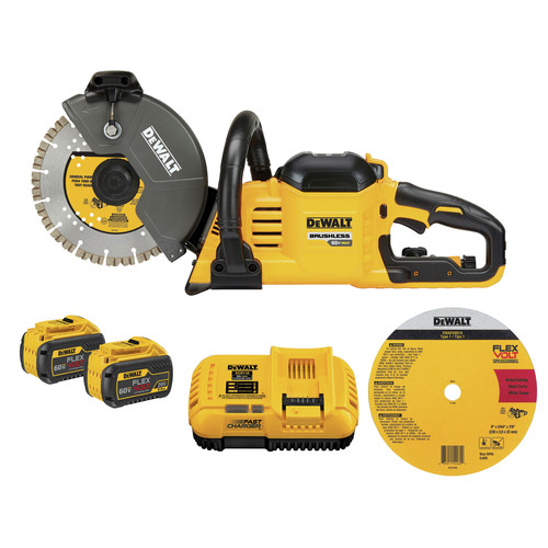 Dewalt DCS690X2 FlexVolt 60V MAX Cordless Brushless 9 in. Cut-Off Saw Kit image number 0