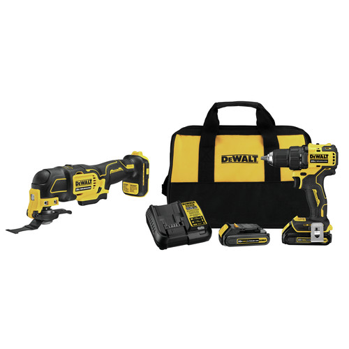 Dewalt DCD708C2-DCS354B-BNDL ATOMIC 20V MAX Compact 1/2 in. Cordless Drill Driver Kit and Oscillating Multi-Tool image number 0