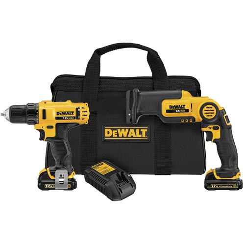 Dewalt DCK212S2 12V Max Cordless Lithium-Ion 3/8 in. Drill Driver and Reciprocating Saw Combo Kit