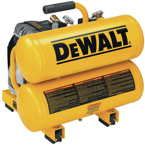 Dewalt D55151 1.1 HP 4 Gallon Oil-Lube Hand Carry Air Compressor image number 0