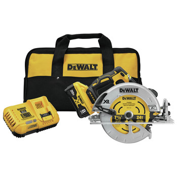 Dewalt DCS574W1 20V MAX XR POWER DETECT Brushless Lithium-Ion 7-1/4 in. Cordless Circular Saw Kit (8 Ah)
