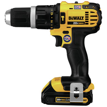 Dewalt DCD785C2 20V MAX Lithium-Ion Compact 1/2 in. Cordless Hammer Drill Driver Kit (1.5 Ah) image number 1