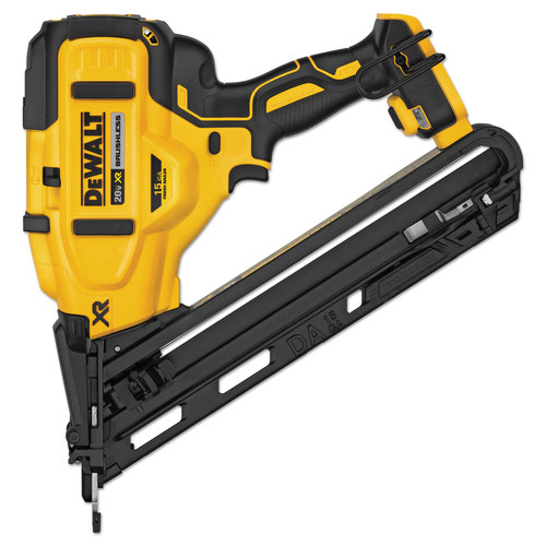 Factory Reconditioned Dewalt DCN650BR 20V MAX XR 15 Gauge Angled Finish Nailer (Tool Only) image number 0
