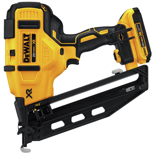 Dewalt DCN660D1 20V MAX 2.0 Ah Cordless Lithium-Ion 16 Gauge 2-1/2 in. 20 Degree Angled Finish Nailer Kit image number 1