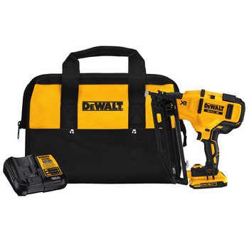 Dewalt DCN660D1 20V MAX 2.0 Ah Cordless Lithium-Ion 16 Gauge 2-1/2 in. 20 Degree Angled Finish Nailer Kit