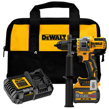 Dewalt DCD999T1 20V MAX Brushless Lithium-Ion 1/2 in. Cordless Hammer Drill Driver Kit with FLEXVOLT ADVANTAGE (6 Ah)