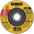 Dewalt DW4514 4-1/2 in. x 1/4 in. A24R High Performance Metal Grinding Abrasive image number 0