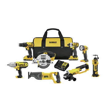 Factory Reconditioned Dewalt DCK881D2R 20V MAX Lithium-Ion Cordless 8-Tool Combo Kit (2 Ah)