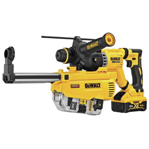 Dewalt DCH263R2DH 20V MAX XR Brushless 1-1/8 in. SDS Plus D-Handle Rotary Hammer Kit with (2) 6 Ah Li-Ion Batteries image number 0