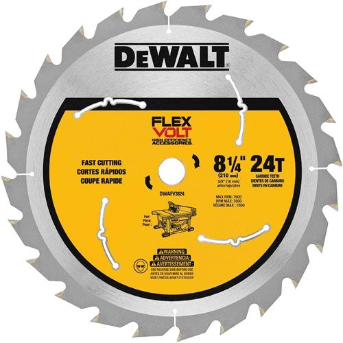 Dewalt DWAFV3824 8-1/4 in. 24T Table Saw Blade