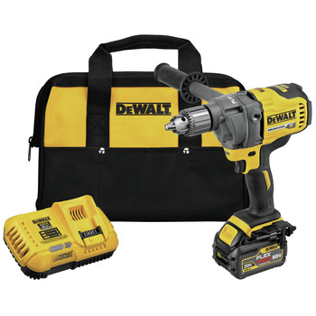 Dewalt DCD130T1 60V MAX Lithium-Ion 1/2 in. Cordless Mixer/Drill Kit with E-Clutch System (6 Ah) image number 0