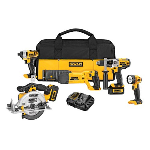 Factory Reconditioned Dewalt DCK592L2R 20V MAX Cordless Lithium-Ion 5-Tool Premium Combo Kit image number 0