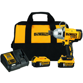 Dewalt DCF898P2 20V MAX 5.0 Ah XR Brushless High-Torque 7/16 in. Impact Wrench with Quick Release Chuck Kit image number 0