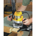 Dewalt DW618PK 2-1/4 HP EVS Fixed Base & Plunge Router Combo Kit with Hard Case image number 8