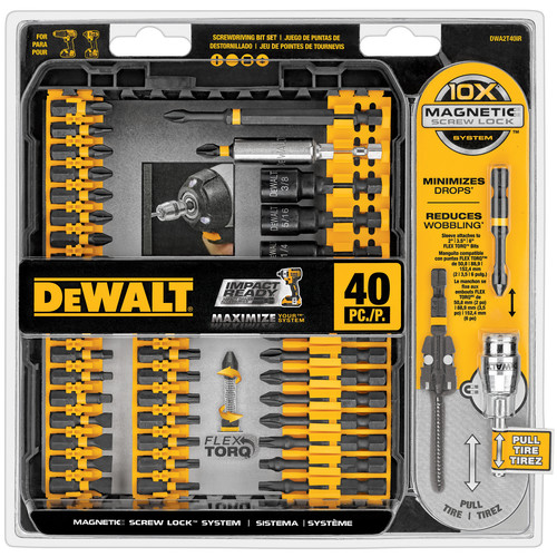 Dewalt DWA2T40IR 40-Piece Impact Ready Screwdriving Bit Set