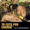 Dewalt DCCS670X1 60V 3.0 Ah FLEXVOLT Cordless Lithium-Ion Brushless 16 in. Chainsaw image number 6