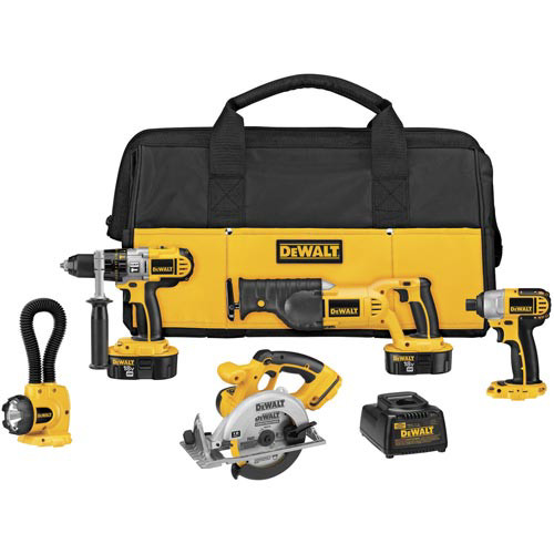Dewalt DCK555X 18V XRP Cordless 5-Tool Combo Kit with Contractor Bag