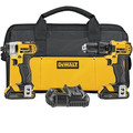 Factory Reconditioned Dewalt DCK280C2R 20V MAX 1.5 Ah Cordless Lithium-Ion 1/2 in. Compact Drill Driver and Impact Driver Combo Kit image number 0