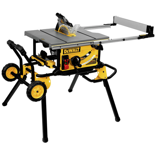 Attractive 15 Amp Site Pro Compact Jobsite Table Saw With Rolling Stand