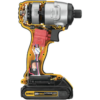 Factory Reconditioned Dewalt DCF885C2R 20V MAX Cordless Lithium-Ion 1/4 in. Impact Driver Kit image number 3