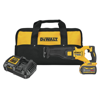 Dewalt DCS389X1 FLEXVOLT 60V MAX Brushless Lithium-Ion 1-1/8 in. Cordless Reciprocating Saw Kit with (1) 9 Ah Battery