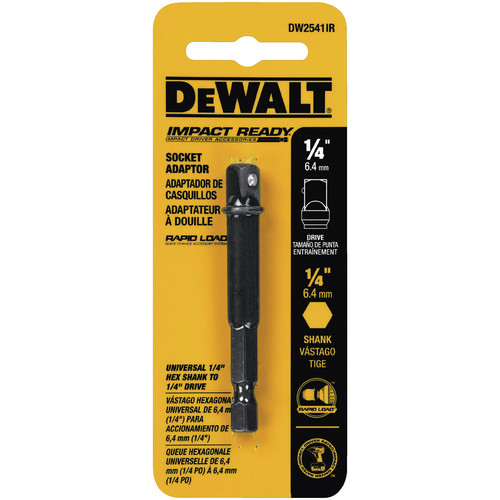 Dewalt DW2541IR 1/4 in. Hex Shank to 1/4 in. Socket Adapter